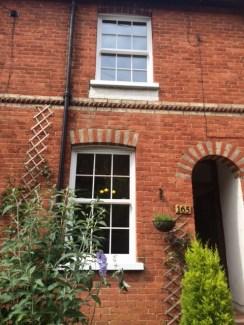 PVCu sash window house
