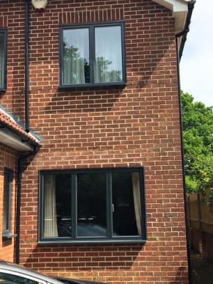 Aluminium windows anthracite grey