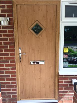 Flint Solidor Composite Doors in Irish Oak