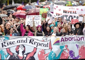 Sept. 24, 2016, protest in Dublin, part of fight for repeal of abortion ban in Irish Constitution.