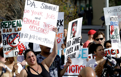 March in Sacramento after funeral of Stephon Clark, who was shot and killed by cops March 18.