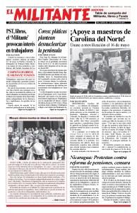 thumbnail of El Militante Vol. 82/No.20