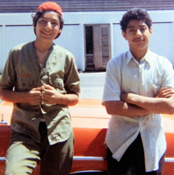 Santos, right, and David in June 1973.