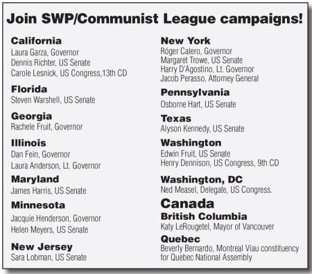 SWP Candidates