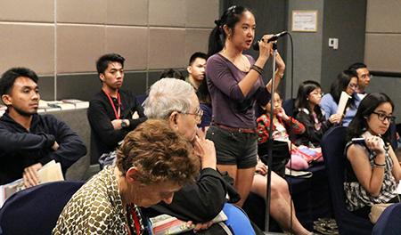 Fredda Ruth Rosete during discussion period.