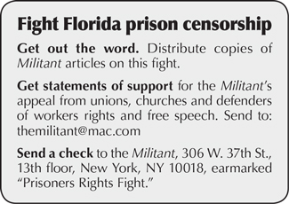 Fight Florida prison censorship