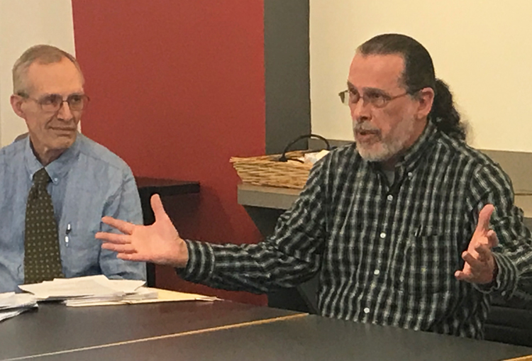"""""""The best way to learn about Cuba is to go and see for yourself,"""" professor Enrique Sacerio-Garí told meeting in Philadelphia, Feb. 3. John Staggs, left, Socialist Workers Party candidate for Philadelphia City Council at-Large, described the 2019 May Day brigade to Cuba."""
