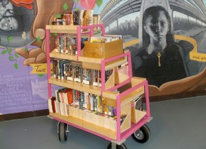 Book cart at Rikers Island prison. At best, prisoners in New York City jails are only allowed access to books twice a month and can only borrow two at a time — if they're allowed any at all.