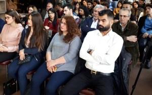 """Evento el 30 de marzo en Sulaymaniyah en Región del Kurdistán de Iraq. Esperamos que sea una plataforma para discutir sobre la emancipación de la mujer """"con la esperanza de hacer cambios radicales y ver a hombres y mujeres hombro con hombro"""", dijo la moderadora Savan Ako al dar la bienvenida."""