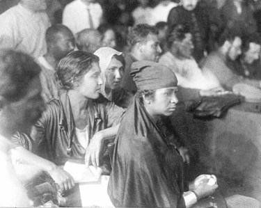 """""""Two basic classes are locked in struggle — the bourgeoisie and the proletariat,"""" Russian Bolshevik leader Leon Trotsky said. Above, delegates at 1920 Congress of Peoples of the East."""