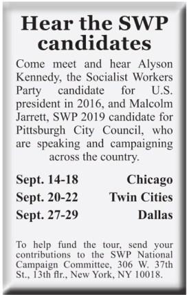 Hear socialist candidates