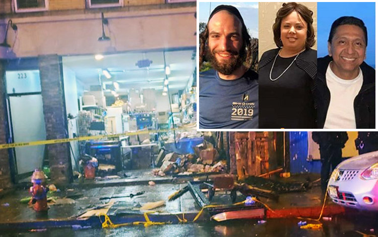 Above, Jersey City Kosher Supermarket, after two anti-Semitic attackers killed Moshe Deutsch, Leah Mindel Ferencz and Douglas Miguel Rodríguez, from left in the inset.