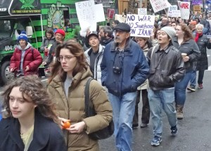 Jan. 4 protest in New York City calling for US hands off Iran, US troops out of Middle East.