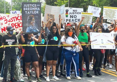 """Above, Atlanta June 5. Below, May 31 action in Alliance, Ohio. """"These small towns coming together, is what we need to make a change,"""" said Ande Green, protest organizer there."""