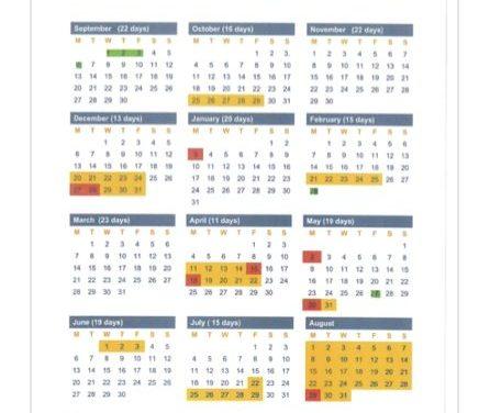 School Holiday Dates 2021-22