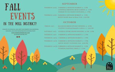 Fall Events Calendar 2021