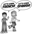 French and Spanish logo