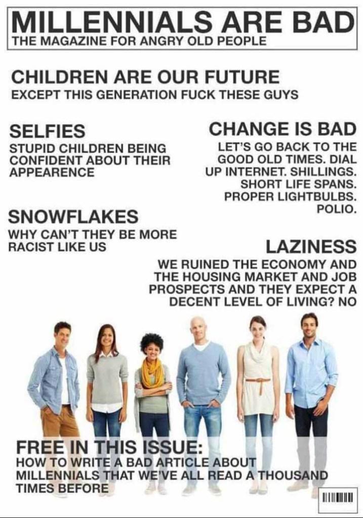 millennials are bad