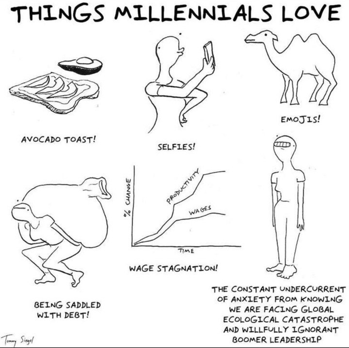things millennial love