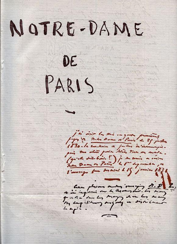 La prima pagina del libro di Hugo