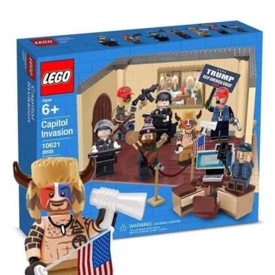 Jake Angeli Q Shaman Lego Meme