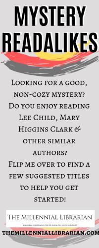 mystery readalike bookmarks