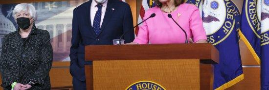 Pelosi backs ending congressional control over debt limit