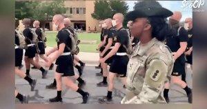 """VIDEO: Female Drill Sergeant Leads U.S. Soldiers Wearing Masks Outside In """"Woke"""" Chant About MLKThe Scoop"""