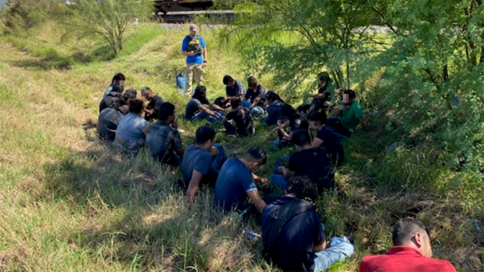 Texas Border Patrol agents arrest 24 migrants accused of using train to travel deeper into US