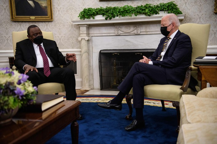 Biden hosts Kenyan leader who is also facing family corruption claims
