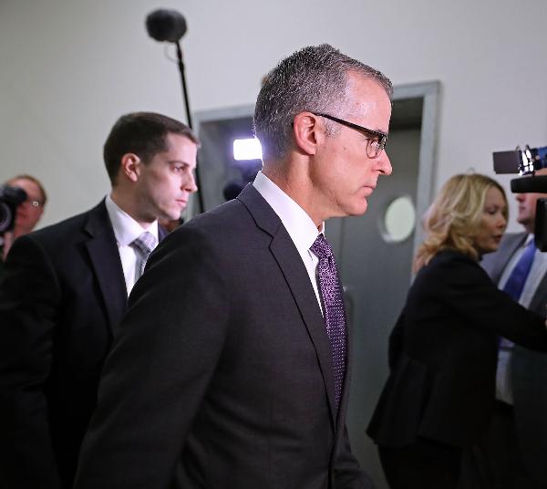 US to Restore Full Pension of FBI Deputy McCabe, Fired Under Trump