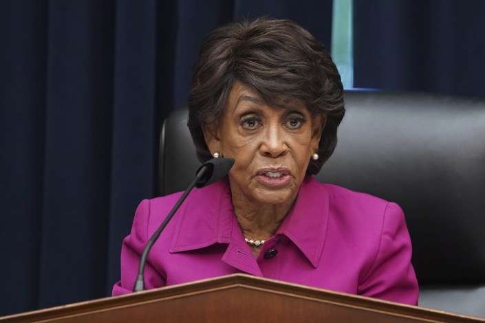 Rep. Maxine Waters tweets that her Twitter account was hacked and erased