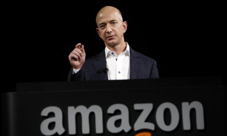 Amazon CEO Jeff Bezos tells crowd Amazon will no longer give out purchasing habits to government without being requested to do so.