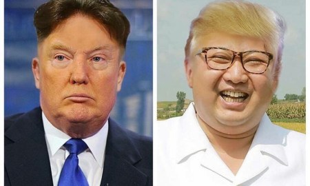 Donald Trump and Kim Jong Un swap hair.