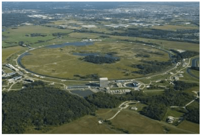 "This is a picture of a ""normal"" accelerator. It is above ground and has continuous access points. There is no reason to place an atom smasher underground and many reasons not to do so."