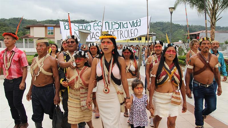 Good News for Today - Hundreds of Indigenous Waorani people march to the capital city of Quito to defended half a million acres of their Amazon territory