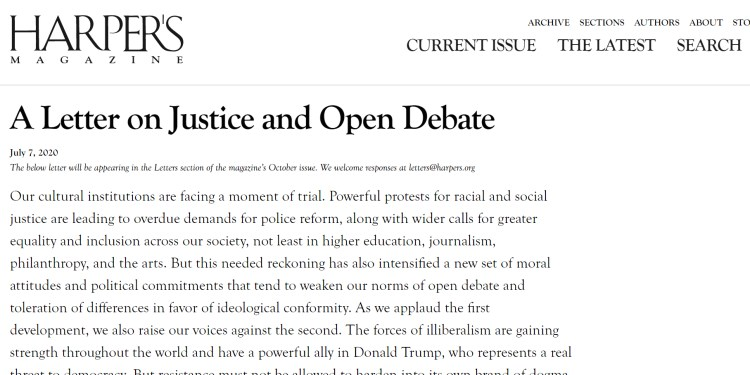 """Bari Weiss' resignation letter to The New York Times and the Harper's open letter take aim at """"illiberalism"""""""