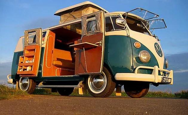 Volkswagen hippy van electric version