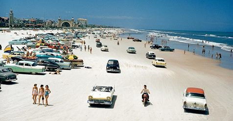 Wonderful Color Slides Document Everyday Life at Beaches in Florida during the 1950s