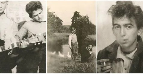 14 Rare and Incredible Vintage Snapshots of George Harrison From a Boy to a Teenager As You've Never Seen Before
