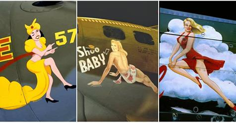 Beautiful World War II Military Aircraft Nose Arts