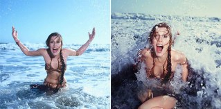 "10 Photos Of Carrie Fisher Promoting ""Return Of The Jedi"" At A Rolling Stone Magazine Beach Shoot, 1983"