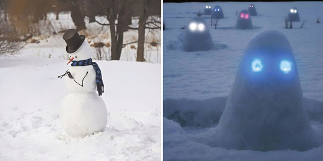 15 Hilariously Creative Snowmen That Would Make Calvin And Hobbes Proud