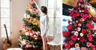 People Are Decorating Christmas Trees with Flowers as a Gorgeous Alternative to Traditional Trimmings