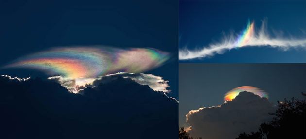 13 Gorgeous Photographs of Iridescent Clouds that Illuminate the Sky with Vibrant Rainbows