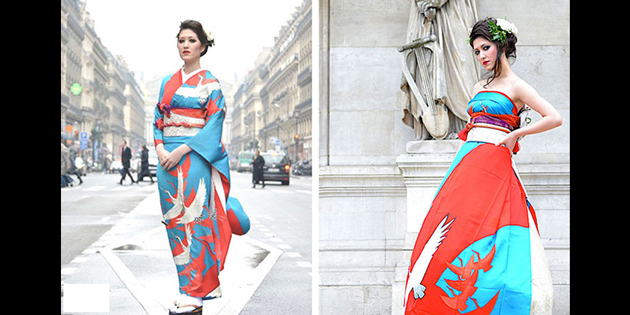 Ever imagined what these brides from Japan have turned their Kimonos into?