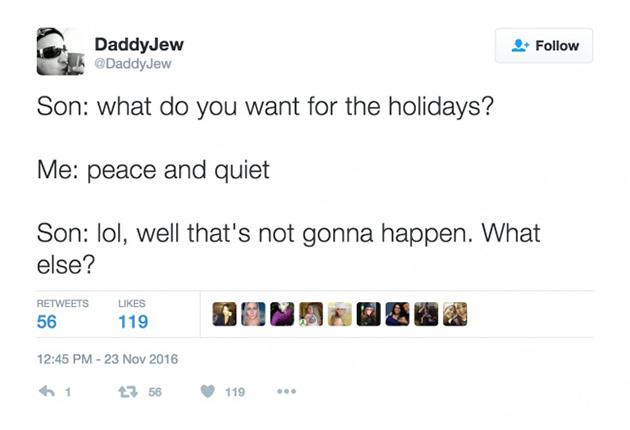 parental tweets sarcasm