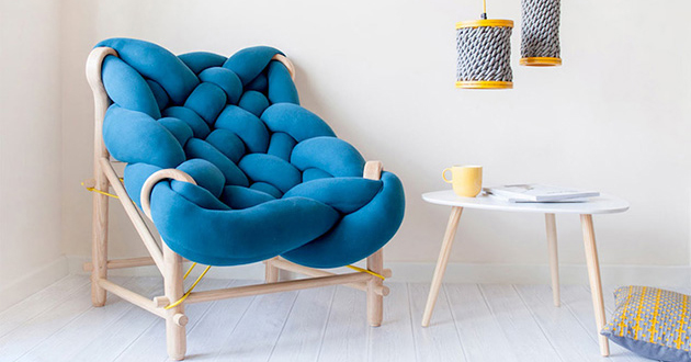 Cozy Chunky Knit Chair Is a Giant Woven Seat You Can Comfortably Sink Into