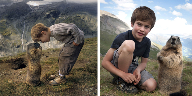 Adorable Photos Of A Young Austrian Boy Enjoys A Special Friendship With Shy Marmots