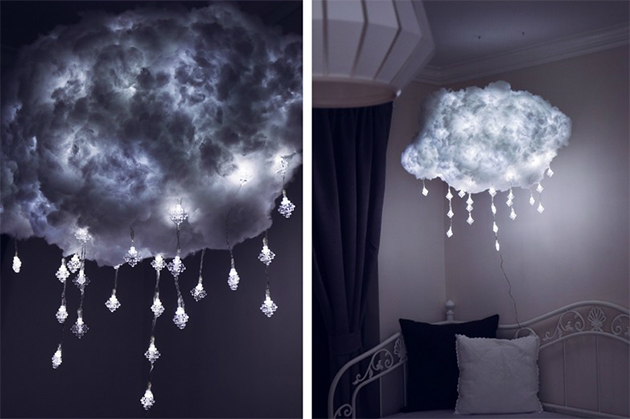 Levitating DIY Cloud Light Brings Airy Illumination Indoors